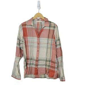 Woolrich Organic Cotton Plaid Button Down Shirt